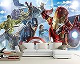 JPBHX Murale 3D De Papier Peint Auto-Adhésif Union Comics (L) 300X (H) 210 Cm Enfant Garçon Fille Chambre Salon Bureau Maternelle Télévision Fond Mur Affiche Art Décoration