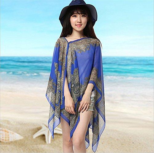 Fahrt Bikini (MONEYY Anti-Ultraviolet Schal, Kittel Sunscreen Schal mit dem Auto fahrt Sonnenschirm Strand Handtuch (kein Bikini 100 * 160 cm, b))