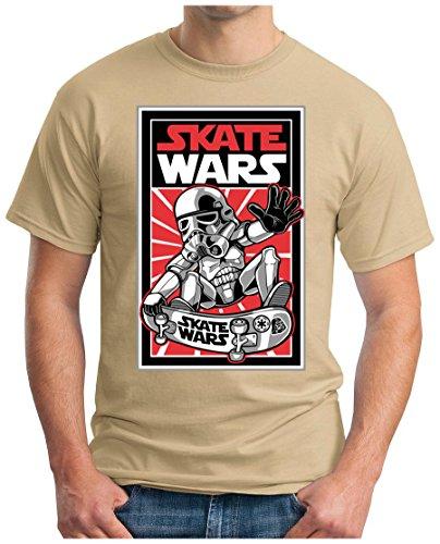 OM3 - SKATE-WARS - T-Shirt, 5XL, khaki (Tee T-shirt Design-khaki)