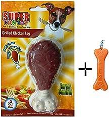 Goofy Tails Super Fun Nylon Chicken Leg Chew Dog Toy with Key Chain