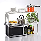 #6: Egab Adjustable Multipurpose Microwave Oven Stand Stainless Steel Rack