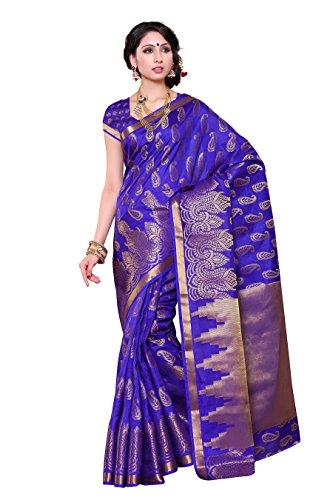 Mimosa Women's Silk Saree (193-Sd-Rblu_Royal Blue)