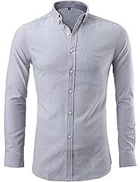 Harrms Hommes Chemise Oxford chemise boutonnée mince Chemises habillées
