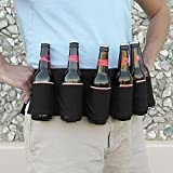 6 Flaschen Bier Biergürtel Outdoor Kletterrucksack zu tragen Getränke Biergürtel (schwarz)