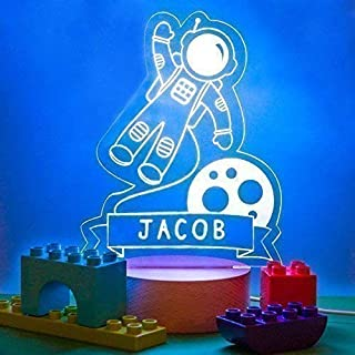 Personalised Boys Night Light for Children/Baby - 4 Designs to Choose From - 7 Colours and a Colour Changing Setting