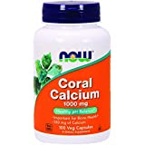 Now Foods, Calcium de Corail ( Coral Calcium ) 1000mg x100Vcaps - Alcalisant