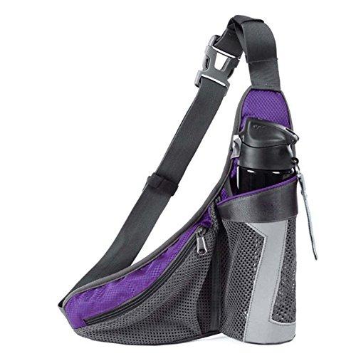 ZYPMM 2017 Tasche Unisex-Modelle Outdoor-Sport-Mehrzweck-Stealth-Handy-Paket weibliche hohe Kapazität laufen Fahrrad Reisewasserkocher Rock Reiten Taschen Schultertaschen Kessel dreieckiges Quer Land  Lila