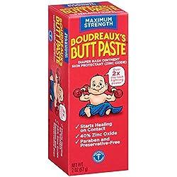 Boudreaux's Butt Paste Maximum Strength Diaper Cream 2 Ounce