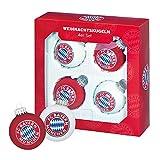 Weihnachtsbaumkugeln FC Bayern München + gratis Sticker, Christbaumkugeln, Weihnachtskugeln, Kugeln (rot weis)