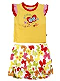 Littleopia Girls Yellow And White Cut Sl...