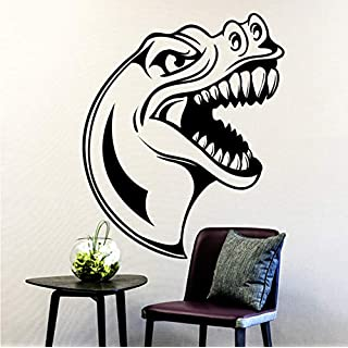 Ponana Dinosaur Head Pattern Wall Decal Designed Wall Stickers for Kids Room Cool Home Decor Nursery Animal ATR Mural 57X69Cm