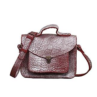 MADEMOISELLE GEORGE Ladrillo Plateado pequeña mochila de cuero de estilo vintage PAUL MARIUS