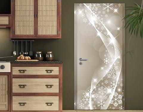 Door wallpaper snow sparkle