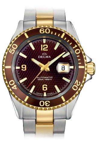 Delma Herrenuhr 407002.–Herren Armbanduhr, Armband Metall Zweifarbig