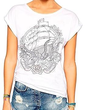 VIENTO Octopussy Ship camiseta para Mujer