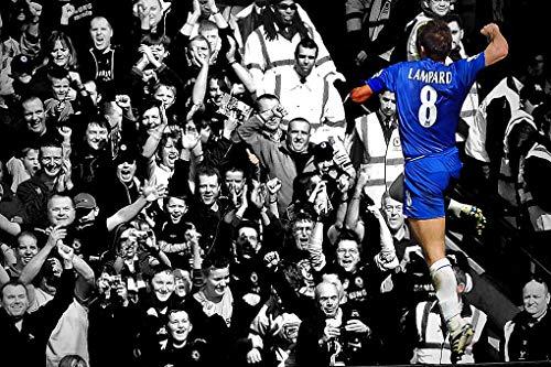 "Andy Evans Fotos Frank Lampard Foto spielt für Chelsea Football Club bei Stamford Bridge London England S/W Foto- oder Poster-Fotografie, Geschenk, Souvenir, Multi, 16""x12"" Canvas Print"