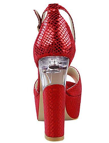 WSS 2016 Chaussures Femme-Décontracté-Noir / Rouge / Argent / Gris / Or / Orange-Gros Talon-Talons-Talons-Polyuréthane black-us5 / eu35 / uk3 / cn34