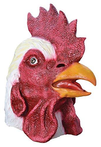 (Bristol Novelties Hahn Tier Vogel Gummi Overhead Maske Einheitsgröße für Erwachsene Kostüm Zubehör Halloween Fancy Kleid)