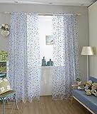 Bunte Dot Zimmerfenster Voile Organza Panel Drapieren Vorhang Wohnkultur Blau