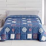 Barceló Hogar 07100050211 Conforter, modelo University, azul, 91 cm (180 x 270)