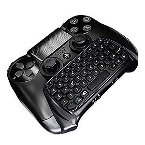 KOBWA Playstation 4 Tastatur für Controller u2013 Drahtlos Per Bluetooth
