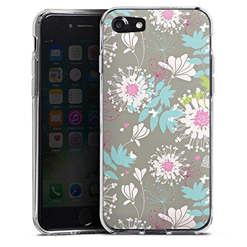 Apple iPhone X Silikon Hülle Case Schutzhülle Blumen Dekor Oldschool Silikon Case transparent
