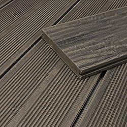 HORI® WPC-Terrassendiele Massiv I Maui I Grau I Dielenlänge: 500 cm