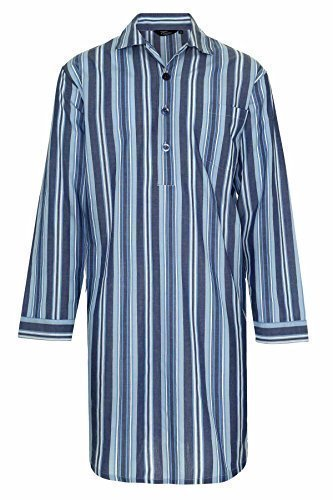 champion-mens-westminster-polycotton-summer-striped-nightshirt-l-navy