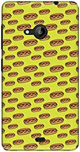 The Racoon Grip printed designer hard back mobile phone case cover for Microsoft Lumia 535. (Hot Dogs)