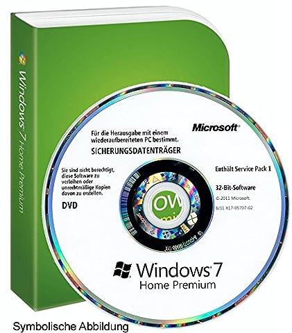 Microsoft Windows 7 Home Premium MAR Refurbished 32-Bit Vollversion Deutsch