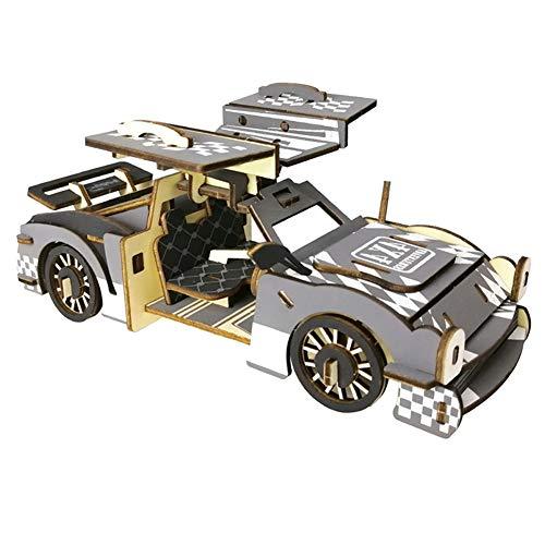 Madera de Madera del rompecabezas 3D Puzzle de coches SUV Asamblea Animal Simulación Puzzle Modelo de juguete Juego Jigsaw (Juegos Llaves Para)
