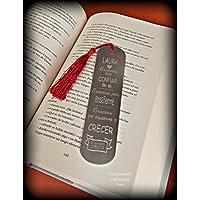 Marcapaginas - punto de lectura personalizado. Especial regalo profesor/maestro