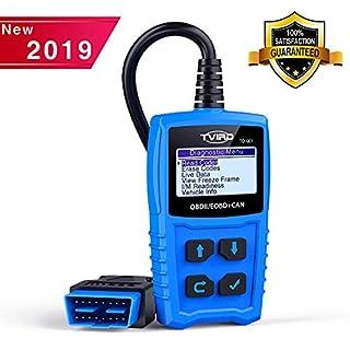 OBD2 Diagnosegerät Auto Diagnosewerkzeuge Tvird Universal Diagnose Scanner für alle Fahrzeuge ab 2000 mit OBD II Protokolle/standardem 16-pin OBD-II Schnittstelle/Batterietest (nicht für Dieselauto)
