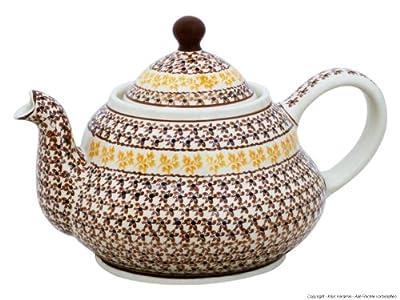 Bunzlauer Théière en céramique avec passoire intégrée dans le décor 9731,5L