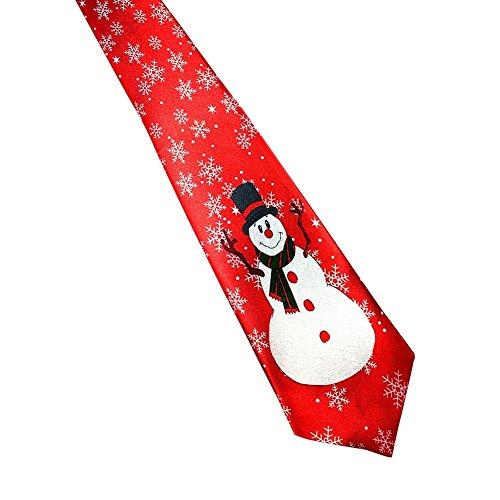 PanDaDa Herren Jungen Luxus Weihnachtsbindung Santa Druck Gemustert Neuheit (Männer Kostüm Fröhliche)