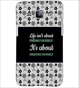 PrintDhaba Quote D-4668 Back Case Cover for SAMSUNG GALAXY J1 (Multi-Coloured)