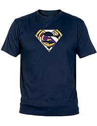 Camiseta Supermán Madridista Adulto/niño Camisetas Real Madrid Merengues
