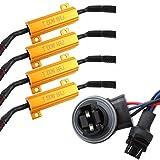 TOMALL 3157 T25 50W 8ohm LED Résistances Decoder Anti-Flicker pour frein Ampoules