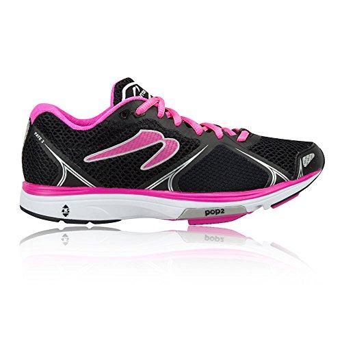 Newton Running Women's Fate III Neutral Running Shoe Scarpe Donna, Nero (Black/Pink) 42 EU