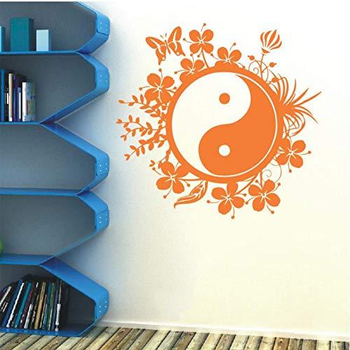 Chinesischen stil wand vinyl tai chi philosophie butter blume wohnzimmer schlafzimmer dekoration 57x63 cm Anker-butter