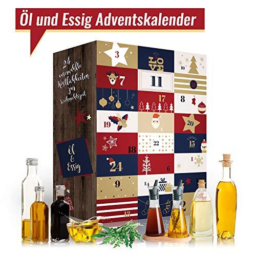 Öl & Essig Adventskalender I kulinarischer Weihnachtskalender mit 24 Feinkost Überraschungen! Ausgefallener Adventskalender für Hobbyköche oder Genießer