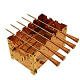 """Taluka (10"""" x 5"""" Inches) Pure Copper Paneer Tikka Rectangular Barbecue Grille With 5 Skewers 