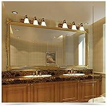 espejo del baño espejo del baño LED luz delantera de espejo de vanidad Europea gabinete accesorios de iluminación clásica Platón G27