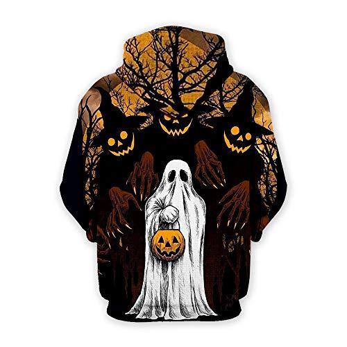 Halloween Paar Kostüm Baseball - QGXR Halloween Kostüm Skull Drucken Paar Lose Hooded Damen Herren Pullover Baseball Shirt Unisex Mode Digitale Drucke Sind In Einer Vielzahl Von Größen Und Formen Erhältlich-3Xl