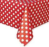 Plastic Polka Dot Tablecloth, 9ft x 4.5ft