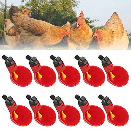Alaof Automatische Huhn GeflüGel Trinker, GeflüGel Wasser Trinken Tassen SchüSseln Rot Kunststoff Ente Vogel Wasser Feeder (Rote Tassen Trinken)
