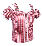Bluse Trachtenbluse Rot 312 (L)
