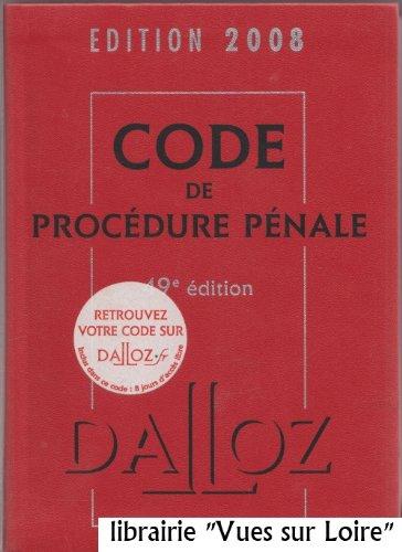 Code de procédure pénale édition 2008 par Jean-François RENUCCI