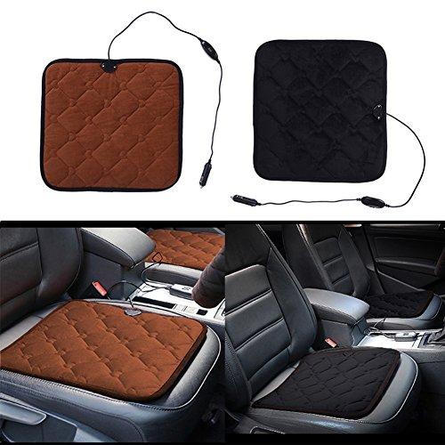 Preisvergleich Produktbild LianLe Sitzheizung Sitzauflage Universal Beheizbar Sitzkissen Heizkissen (Schwarz 42 * 40 cm)