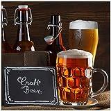 Wallario Magnet für Kühlschrank/Geschirrspüler, magnetisch haftende Folie - 60 x 60 cm, Motiv: Biervarianten - Pils im Glas F